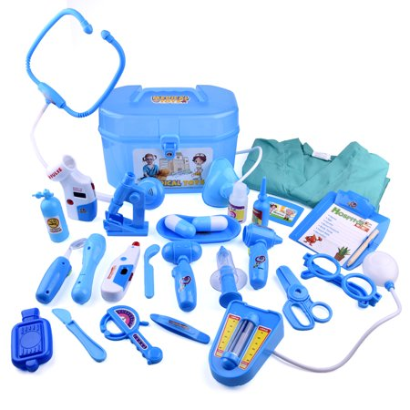 Medical Doctor Kit Toys for Kids Learning Resources Pretend  Play Doctor Play Set for Kids Holiday Gifts, School Classroom Roleplay Costume Dress-Up Toy 27Pcs F-163 - Toy Doctor Kit
