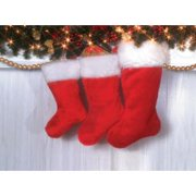 SANTA-DLX PLUSH STOCKING 22""