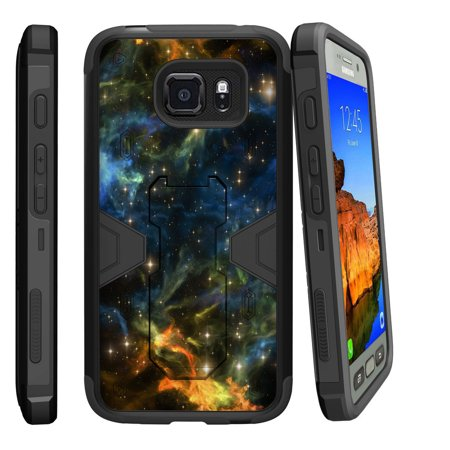 Samsung Galaxy [ S7-ACTIVE model] G891A Dual Layer Shock Resistant MAX DEFENSE Heavy Duty Case with Built In Kickstand - Out in (Samsung Galaxy S4 Storage Space Running Out)
