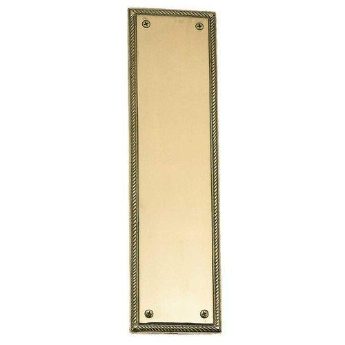 Brass Accents  A06-P0240  Push Plate  Academy  Door Plate  ;Polished Brass