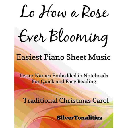 Lo How a Rose Ever Blooming Easiest Piano Sheet Music -