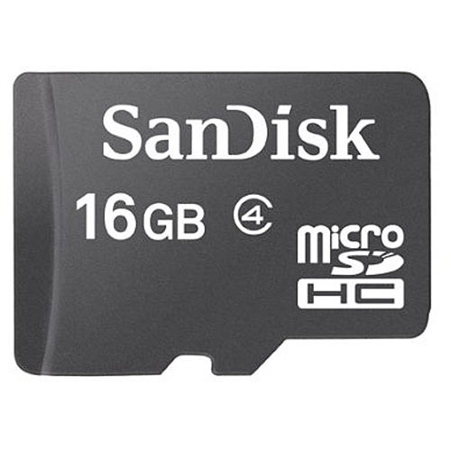 SanDisk 16GB MicroSDHC Class 4 Mobile Memory Card