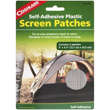Coghlan's Self-Adhesive Plastic Screen Patches 3 ct
