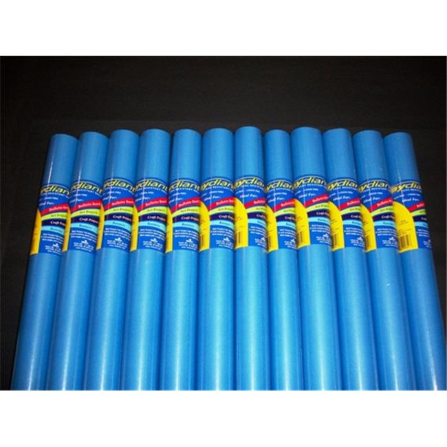 RiteCo Raydiant 80155 Riteco Raydiant Fade Resistant Art Rolls Bright Blue 18 In. X 50 Ft. 12 Pack