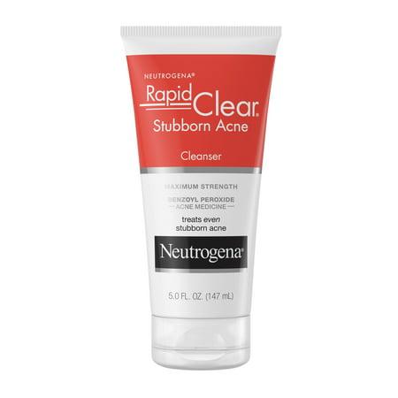 Neutrogena Rapid Clear Stubborn Daily Acne Facial Cleanser, 5 fl. oz