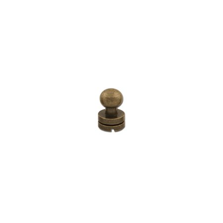 """Tandy Leather Button Stud 5/16"""" (8mm) Screwback Nickel Free Antique Brass Plate 11310-20"""