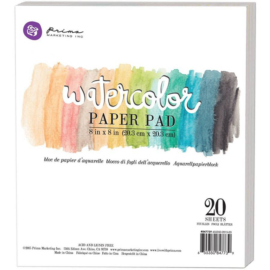 "Watercolor 140lb Cold Press Paper Pad, 8"" x 8"", 20pk"