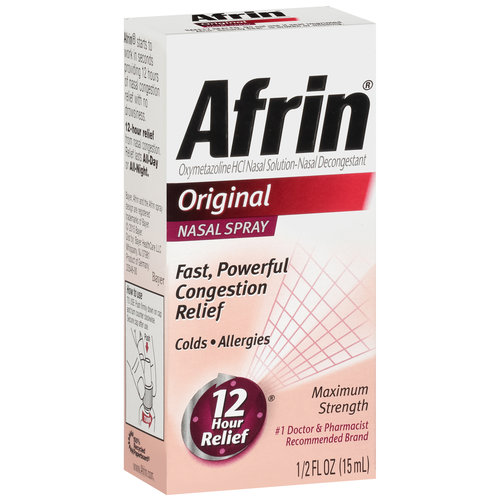 Image of Afrin Original Maximum Strength Nasal Spray 5 Oz