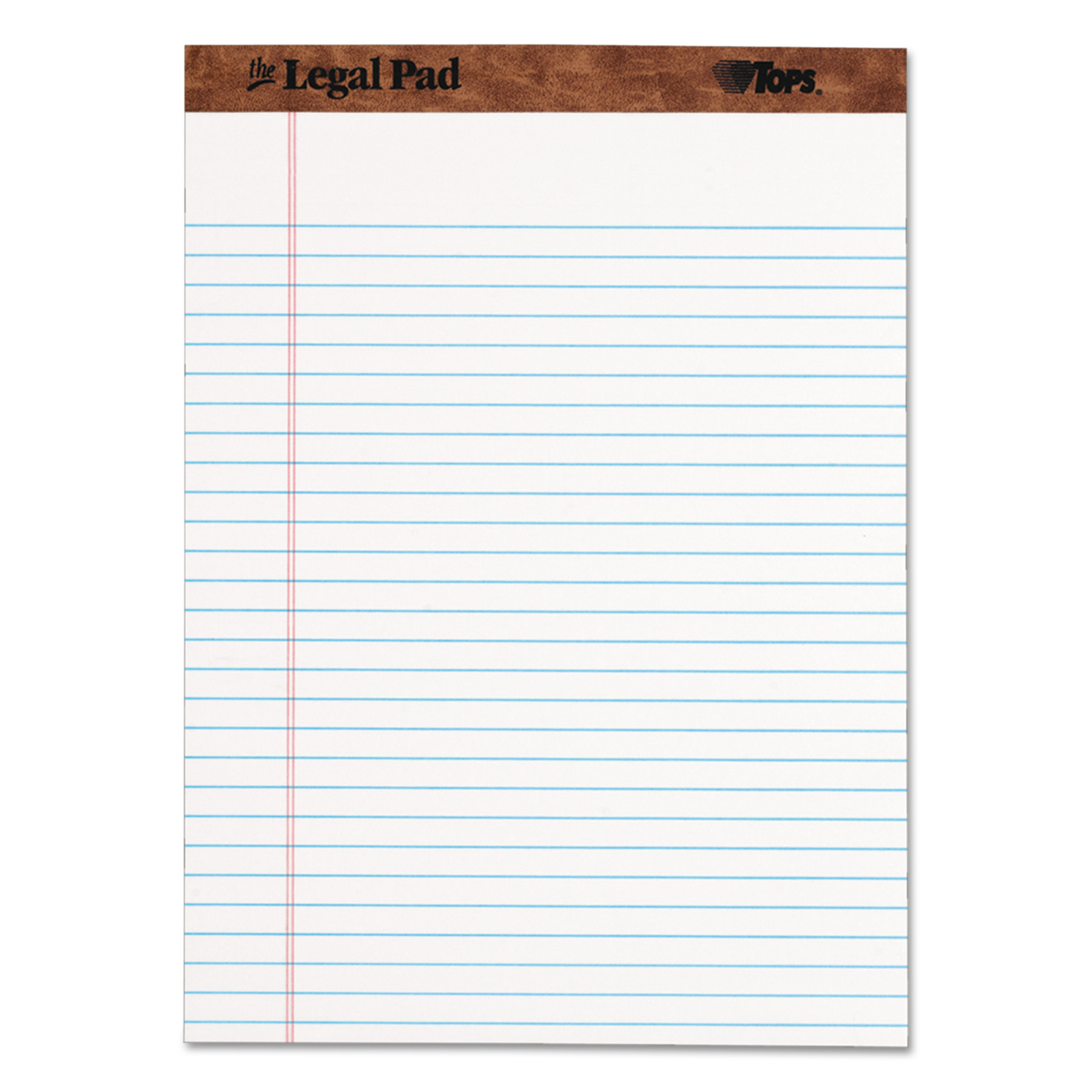 TOPS Paper Pads, Legal Rule, Letter Size, 50 Sheet Pads, Dozen