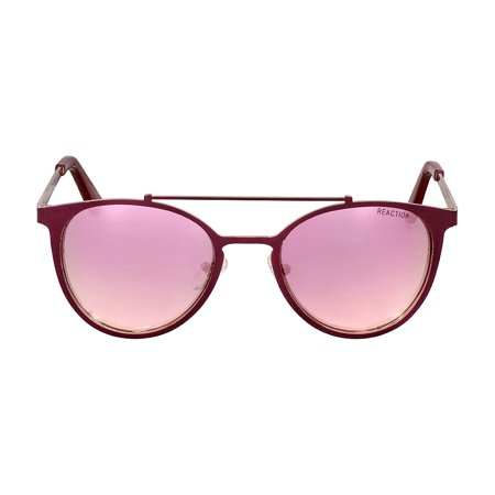 Kenneth Cole Reaction Metal Frame Pink Flash Lens Ladies Sunglasses (Kenneth Cole Sunglasses For Women)