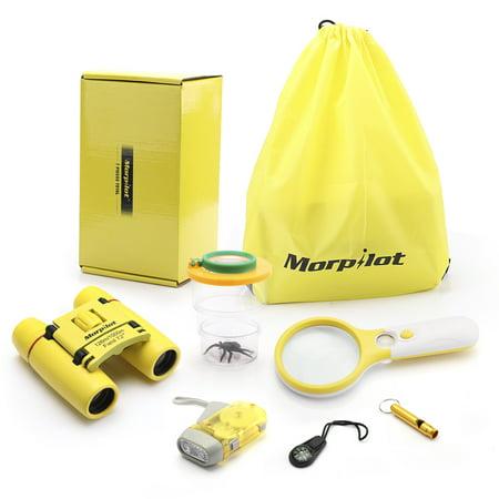 Morpilot Gifts Toys 3-10 Years Old Boys Girls, Adventure Outdoor Explorer Kit Kids Fun Toys Educational Toys 2018 Kids Birthday Present Kids Binoculars Set