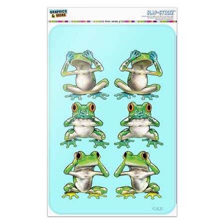 See No Evil Hear Speak Tropical Rainforest Frogs Home Business Office Sign See Speak No Evil Frogs
