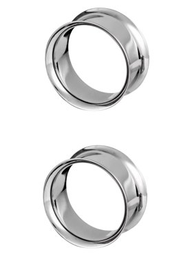 Surgical Steel Ear Gauges, Double Flared Saddle Tunnel Plug Earrings, 19mm - 25mm