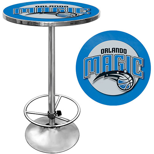 "Trademark NBA Orlando Magic 42"" Pub Table, Chrome"