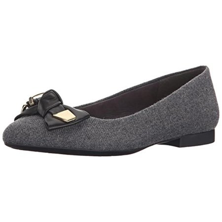 8a9e571f2166 Bella Vita Womens Ozark Flannel Leather Bow Ballet Flats - Walmart.com