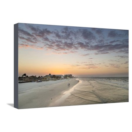 Sunrise at Fort Myers Beach, Florida, USA Beach Coastal Landscape Seascape Stretched Canvas Print Wall Art By Chuck (Fort Myers On A Map Of Florida)