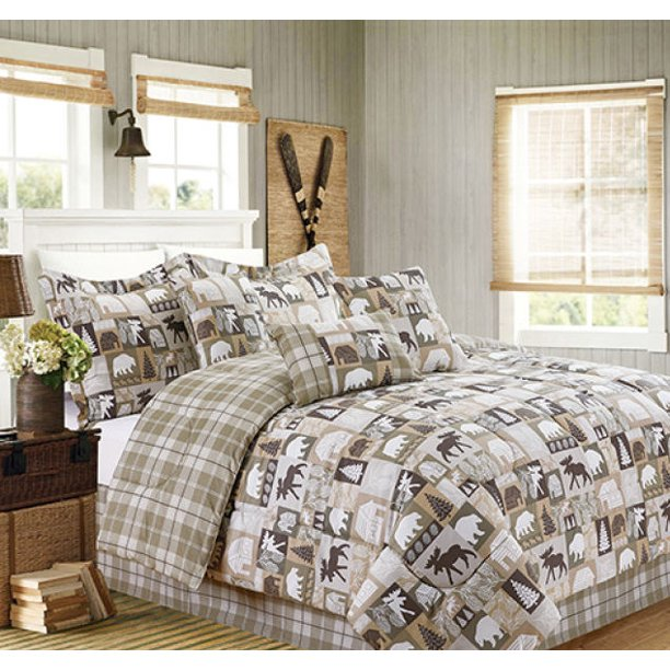 Cabin Country Hunting Lake House, Lake House Queen Bedding