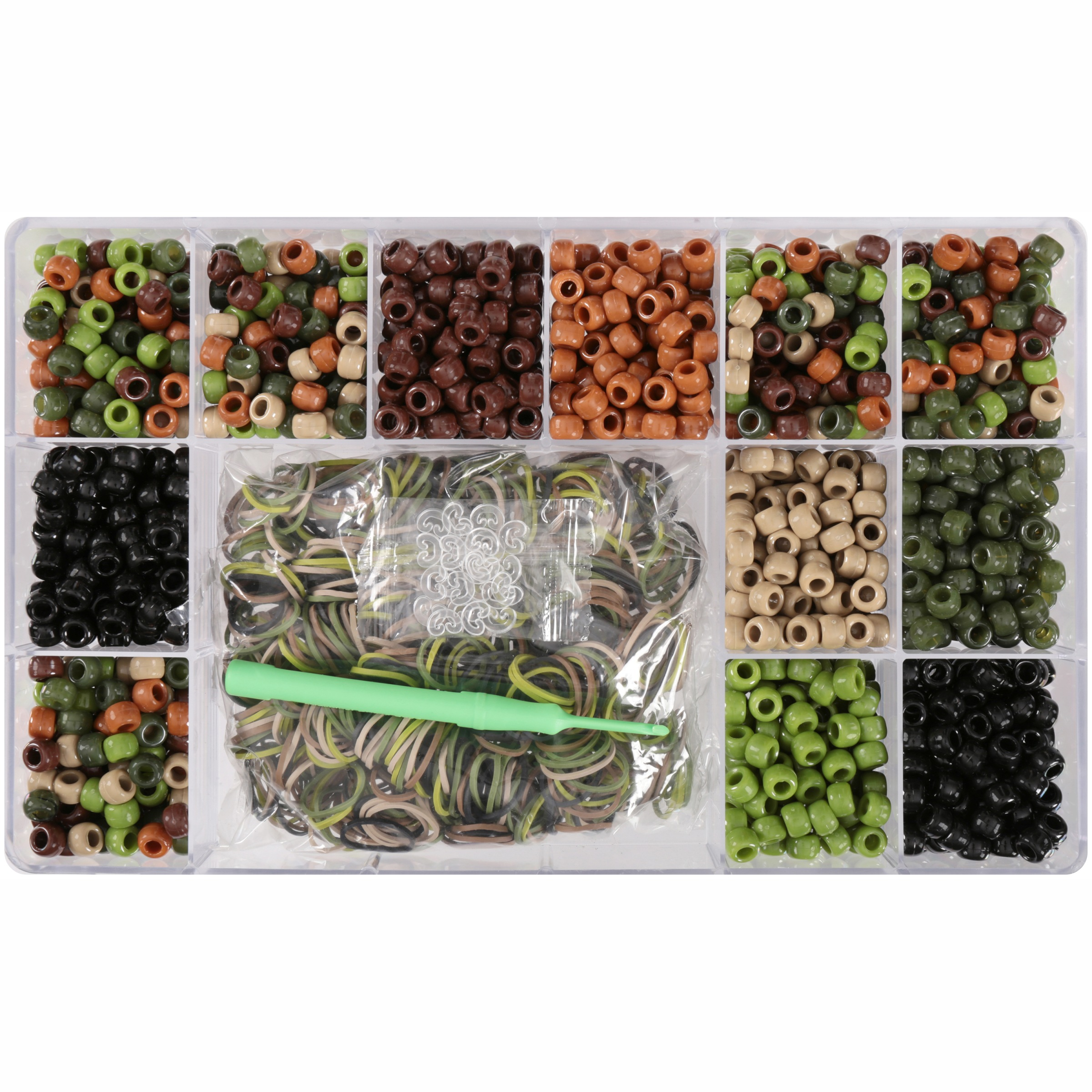 Wonderloom™ Camo Beads & Bands Craft Kit 1975 pc Container