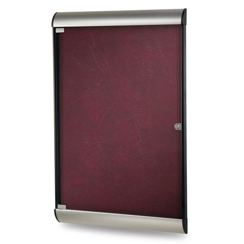 Ghent Ghent Silhouette 1 Door Enclosed Fabric Bulletin Board