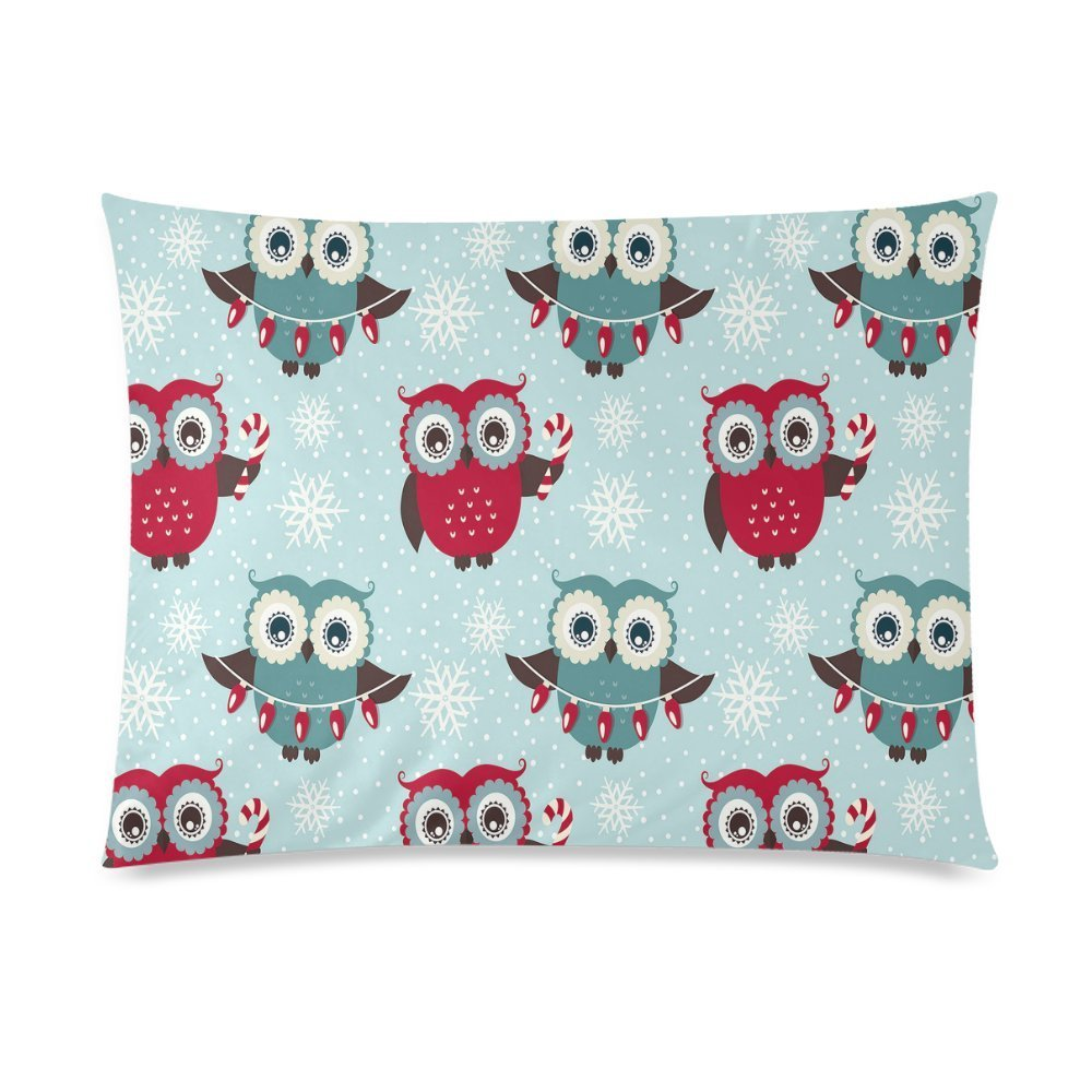 ZKGK Christmas Funny Owl Snowflake Home Decor Pillowcase 20 x 30 Inches,Christmas Gift... by ZKGK