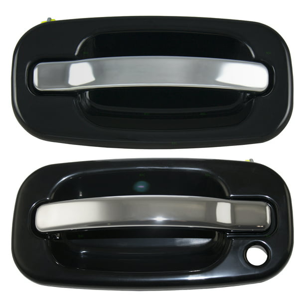 Pair Set Front Outside Door Handles Black Bezel W Chrome Levers Replacement For Cadillac Gmc Chevy Pickup Truck Suv 15745149 15182419 Walmart Com Walmart Com
