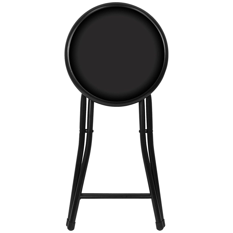 Sensational Trademark Gameroom Black Cushioned Folding Stool 18 Camellatalisay Diy Chair Ideas Camellatalisaycom