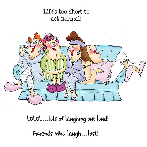 Art Impressions Girlfriends Cling Rubber Stamp, Comfy On The Couch Set