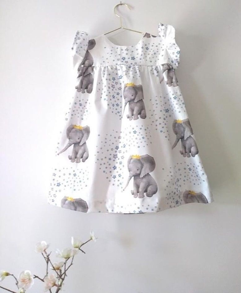 Toddler Baby Girls Summer Ruffle Elephant Princess Party Dress Clothes Sundress