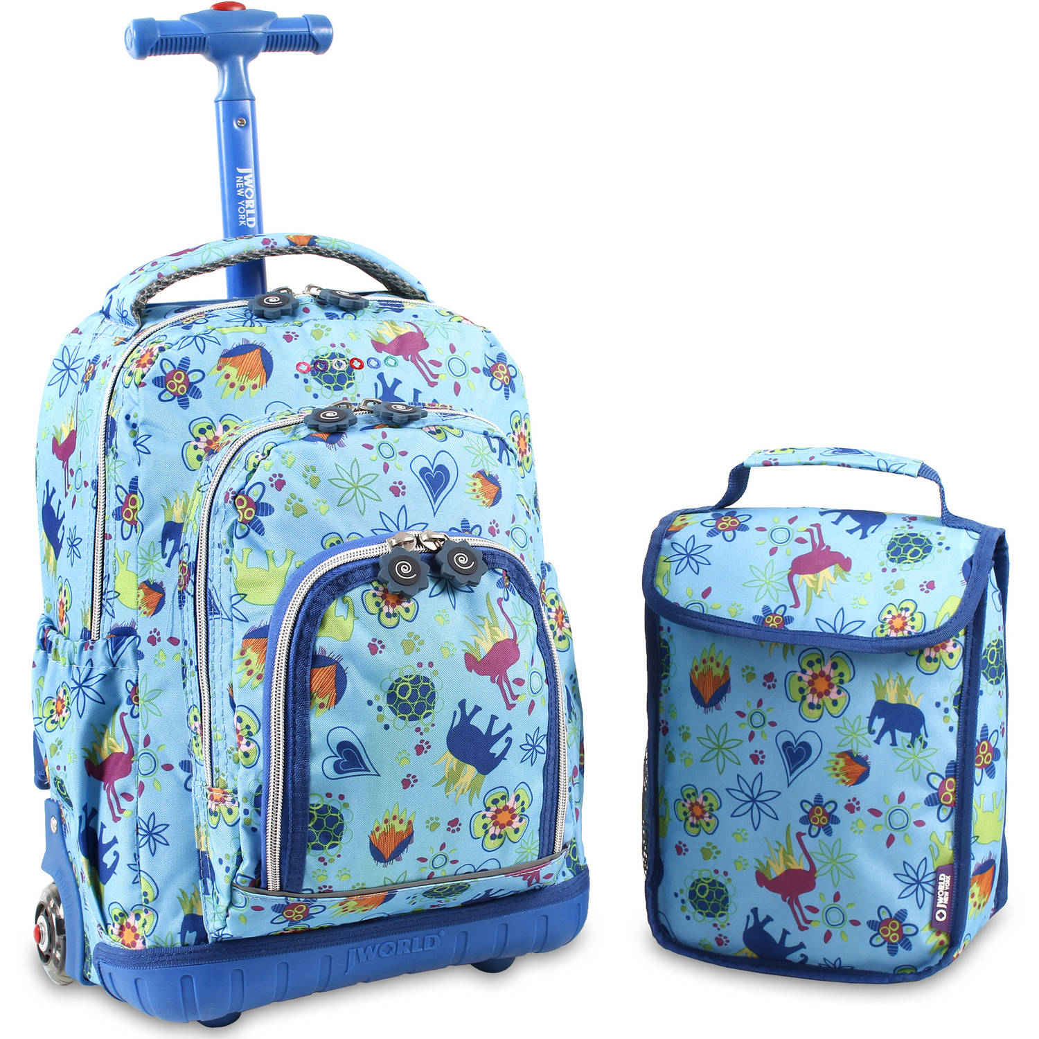 "J World Lolipop 16"" Rolling Backpack with Bonus Lunch Bag by J World"