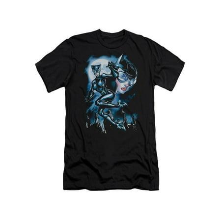 Batman DC Comics Moonlight Catwoman Adult Slim T-Shirt - Batman And Catwoman Couple Shirts