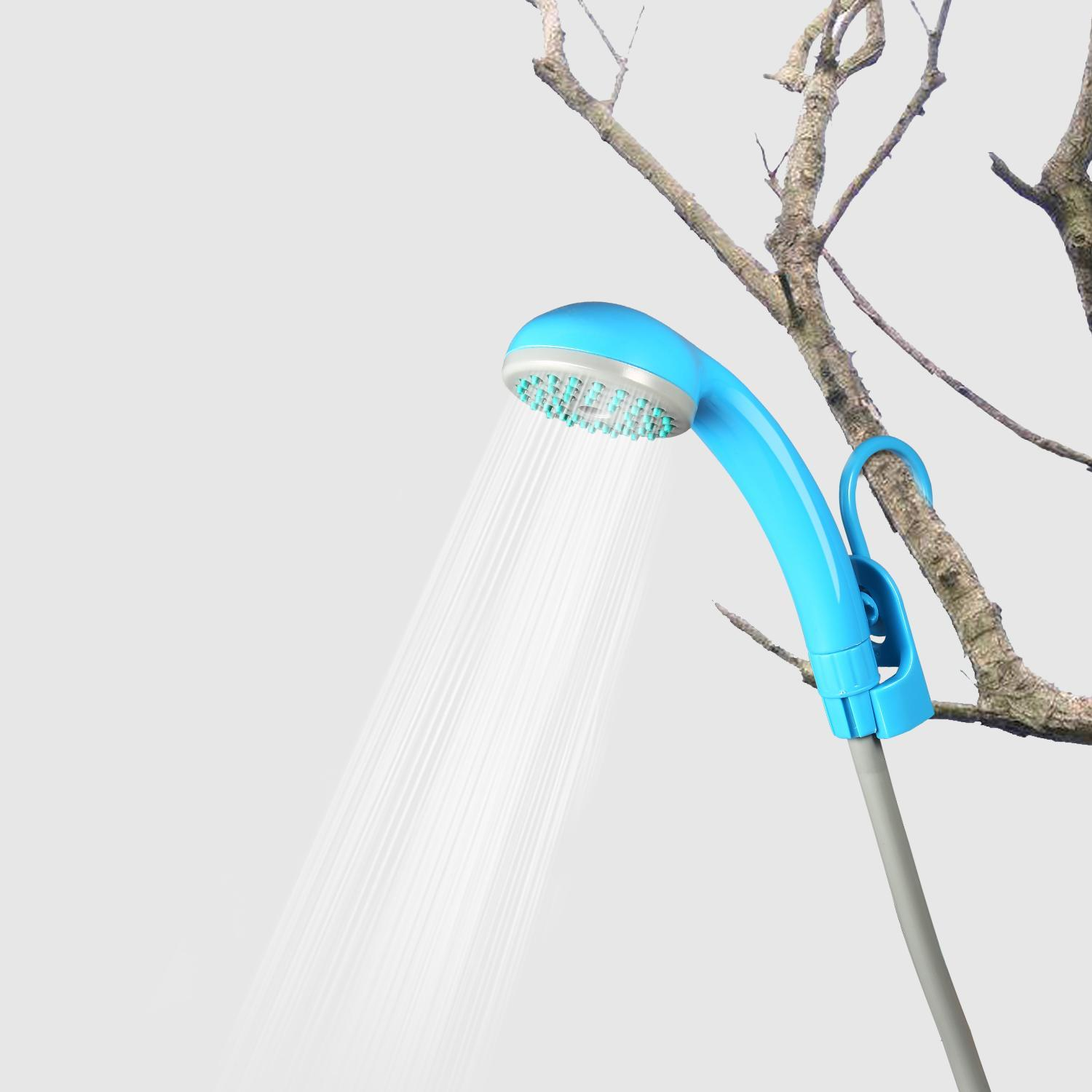 Portable Outdoor Shower Battery Powered Rechargeable Handheld Camping Showerhead CYBST