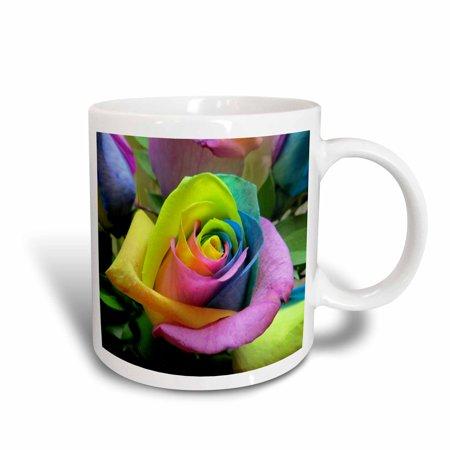 Mum Rose - 3dRose Tye Dye Roses, Ceramic Mug, 11-ounce
