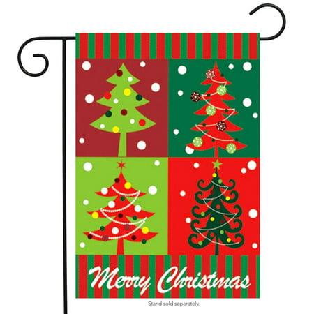 Holiday Garden Flag (Merry Christmas Trees Garden Flag Holiday Icon 12.5