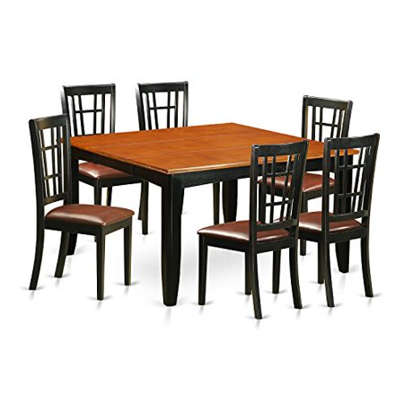 Pfni7 bch lc 7 pc dining room set dining table and 6 for Dining room sets 7 pc