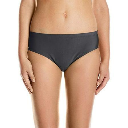 - ATHENA Women's Cabana Solids Landa Mid Waist Bikini Bottom, Black, XS
