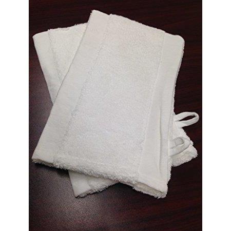 Beauticom 5 Piece White Terry Cloth Bath Mitts
