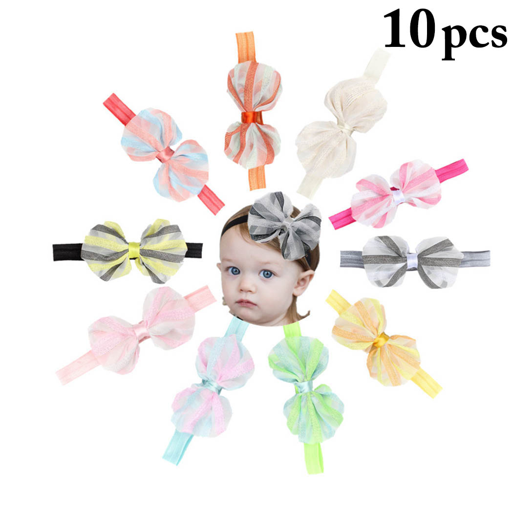 10PCS Baby Headbands, Aniwon Decorative Lovely Bowknot Hair Bands Baby Headwear Head Wraps for kids Girls