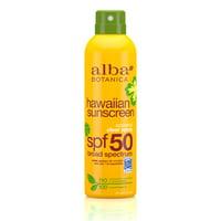 Alba Botanica Hawaiian Coconut Clear Spray Sunscreen SPF 50, 6oz