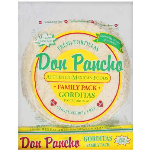 Don Pancho: Flour Tortillas Gorditas, 66 oz