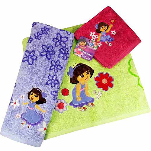 Dora the Explorer 'Picnic' 3pc. Towels and Washcloth Set by Jay Franco