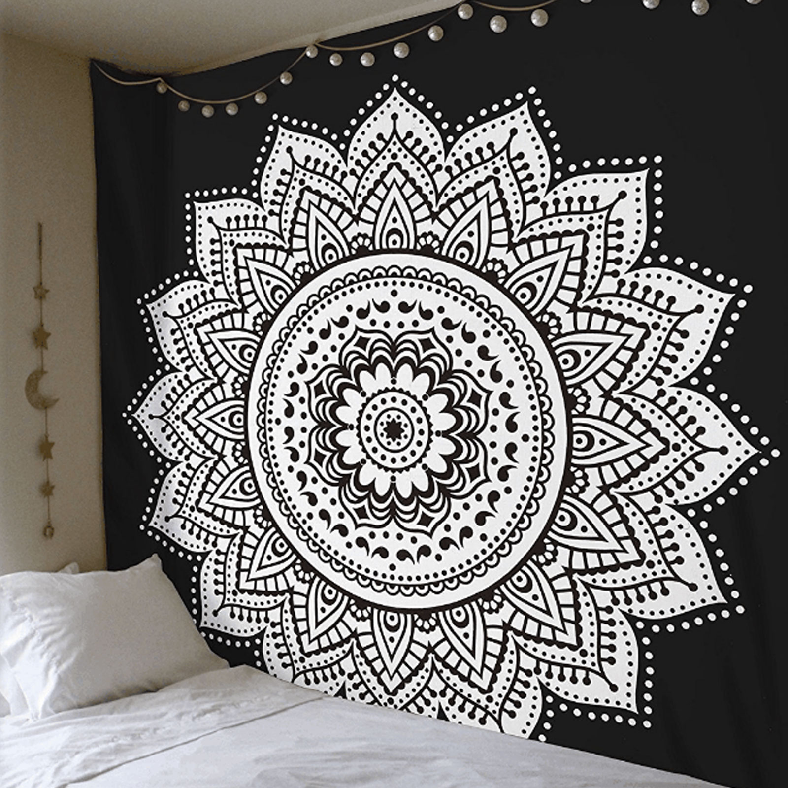 TSV Mandala Tapestry Indian Wall Hanging Decor Bohemian Hippie Queen Bedspread Throw