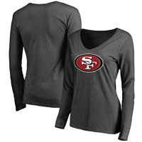 San Francisco 49ers NFL Pro Line Women's Team Logo Long Sleeve T-Shirt - Heathered Gray
