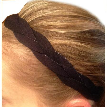 No Slip Grip Non-Slip Sports Athletic Nylon Triple Braided Sports Headband  - Walmart.com 82c10ad8681