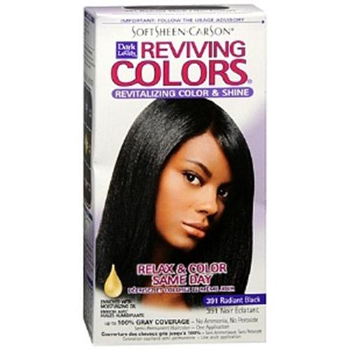 Dark and Lovely Reviving Colors, No.391, Radiant Black, 1 ea (Pack of 6)