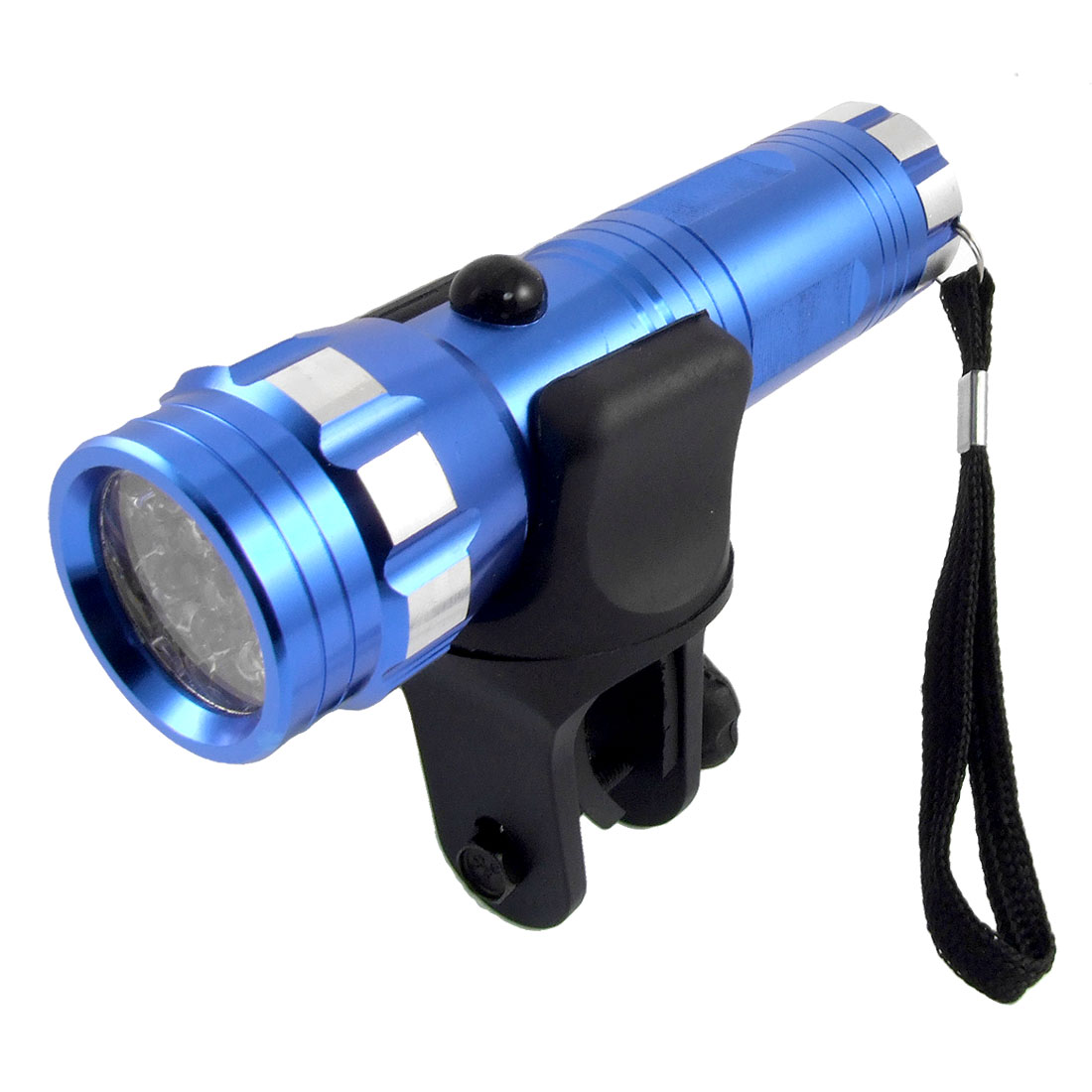 Bicycle Bike 14 White LED Bulb Flashlight Blue Torch Headlight
