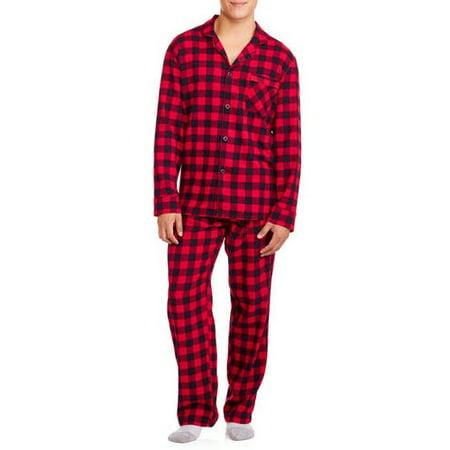 Hanes Men's 100% Cotton Flannel Pajama Set