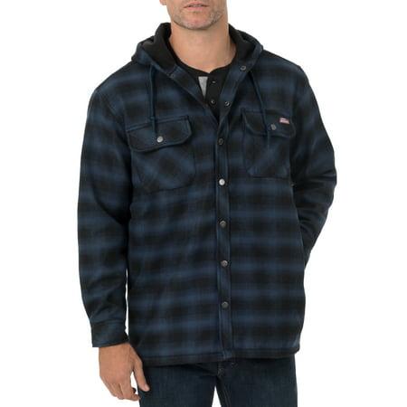 Genuine Dickies Mens Twill Polar Fleece Lined Shirt Jacket