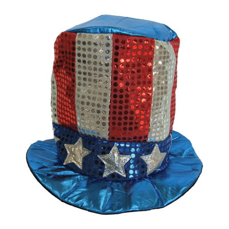 4th of July Sequin Top Hat