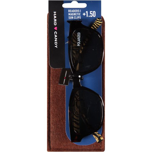 Hard Candy Readers with Magnetic Sun Clips, Get Wild -- Tortoiseshell, 3 count