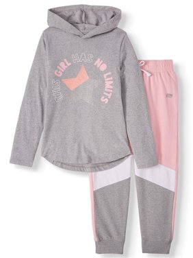 Marika Long Sleeve Hooded Top and Performance Jogger, 2-Piece Active Set (Little Girls & Big Girls)
